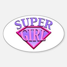 Super Girl (Pink) Oval Decal