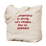 young, fanged, & sparkles Tote Bag