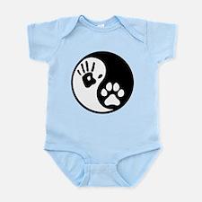 Human & Dog Yin Yang Infant Bodysuit