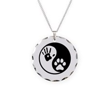 Human & Dog Yin Yang Necklace