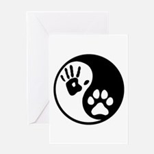 Human & Dog Yin Yang Greeting Card