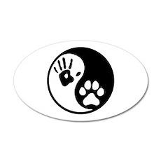 Human & Dog Yin Yang Wall Decal