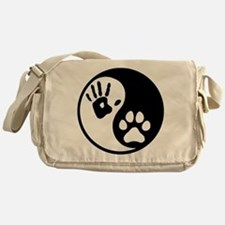 Human & Dog Yin Yang Messenger Bag