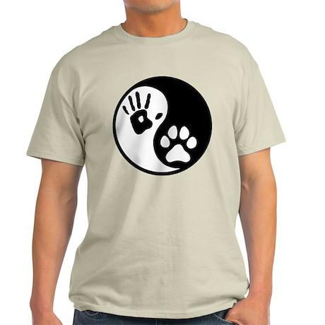 Human & Dog Yin Yang Light T-Shirt