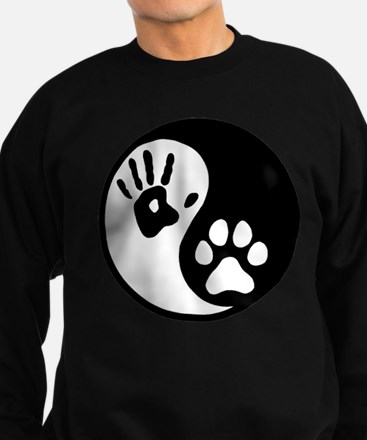 Human & Dog Yin Yang Sweatshirt (dark)