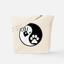 Human & Dog Yin Yang Tote Bag