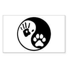 Human & Dog Yin Yang Decal