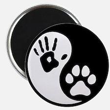 Human & Dog Yin Yang Magnet