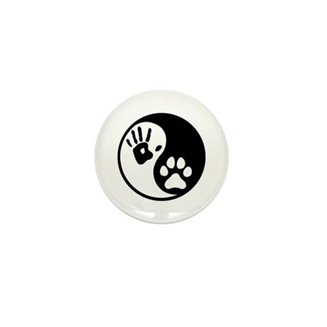 Human & Dog Yin Yang Mini Button (10 pack)