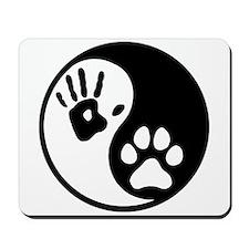 Human & Dog Yin Yang Mousepad
