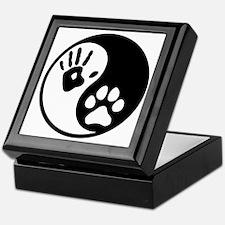 Human & Dog Yin Yang Keepsake Box