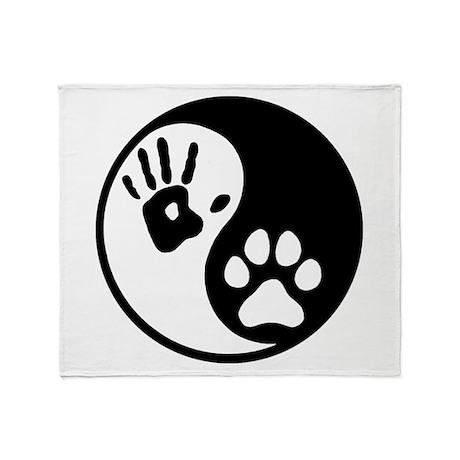 Human & Dog Yin Yang Throw Blanket