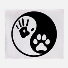 Human & Dog Yin Yang Throw Blanket