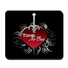 Tribal Heart Mousepad - Tohr and No'One