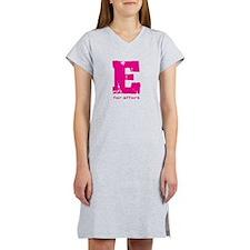 E for Effort Pink Women's Nightshirt