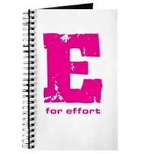 E for Effort Pink Journal