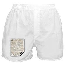 Desiderata: Boxer Shorts