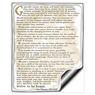 Desiderata: Wall Art Canvas Art