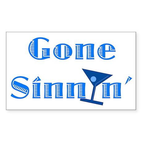 Gone Sinnin' Sticker (Rectangle)