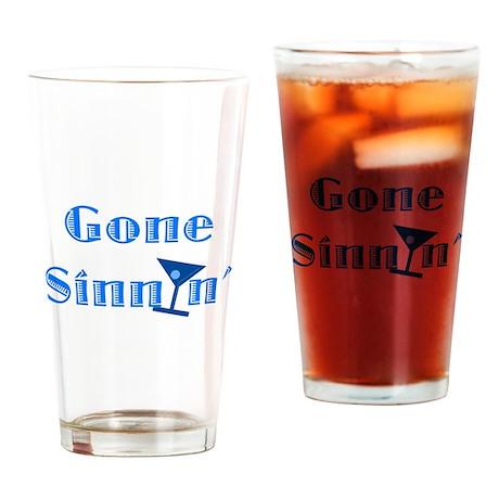 Gone Sinnin' Drinking Glass