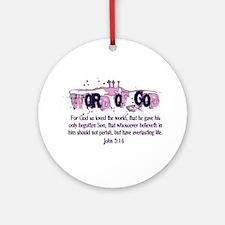 Word of God - John 3:16 Ornament (Round)