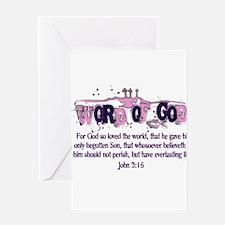Word of God - John 3:16 Greeting Card