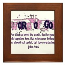 Word of God - John 3:16 Framed Tile