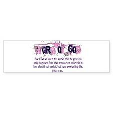 Word of God - John 3:16 Bumper Stickers