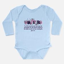 Word of God - John 3:16 Long Sleeve Infant Bodysui