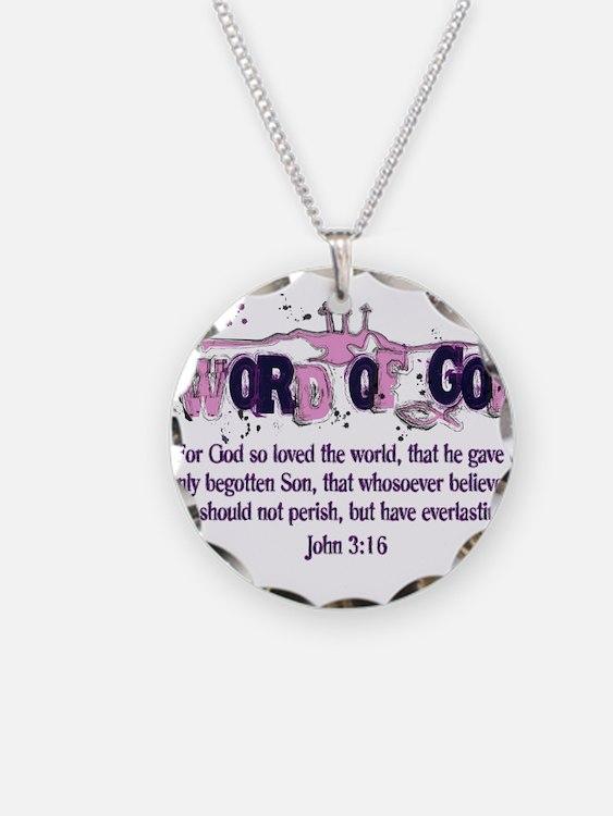 Word of God - John 3:16 Necklace