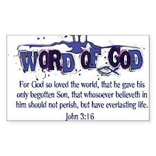 Word of God - John 3:16 - Blu Decal