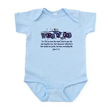 Word of God - John 3:16 - Blu Infant Bodysuit