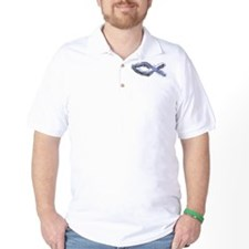 Blue Fish - Ichthys - Christ T-Shirt