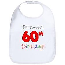 Nonnas 60th Birthday Bib