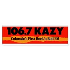 106.7 KAZY-FM Bumper Sticker