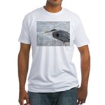 Great Blue Heron Fitted T-Shirt