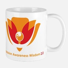 Wisdom Lotus in Orange Mug