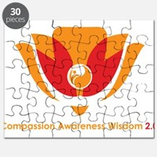 Wisdom Lotus in Orange Puzzle