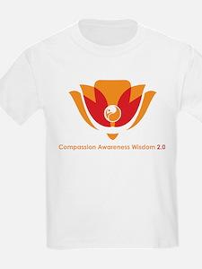 Wisdom Lotus in Orange T-Shirt