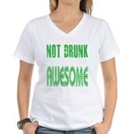 Not Drunk Awesome(green) Women's V-Neck T-Shirt