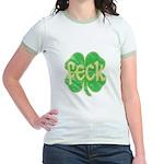 feck shamrock (faded) Jr. Ringer T-Shirt