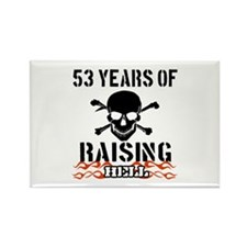 53 years of raising hell Rectangle Magnet