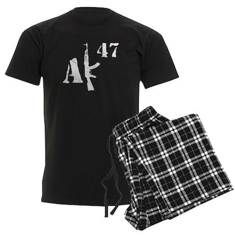 AK 47 (white) Men's Dark Pajamas