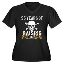 55 years of raising hell Women's Plus Size V-Neck