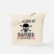 55 years of raising hell Tote Bag