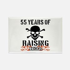 55 years of raising hell Rectangle Magnet