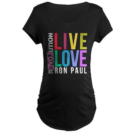 RON PAUL Maternity Dark T-Shirt