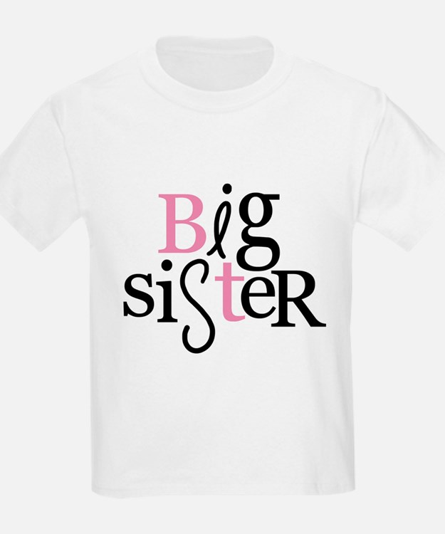 big sister type color T-Shirt