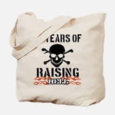 59 years of raising hell Tote Bag