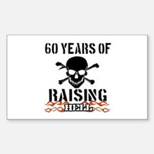 60 years of raising hell Sticker (Rectangle)